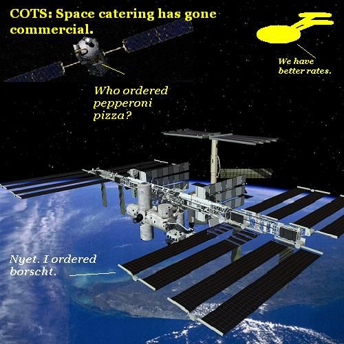 Commercial supply delivery at the ISS.