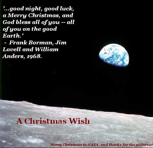 Merry Christmas, Earth.