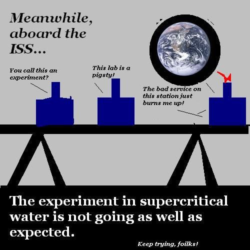 Supercritical water in space.