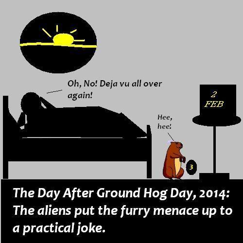 Sneaky groundhog.