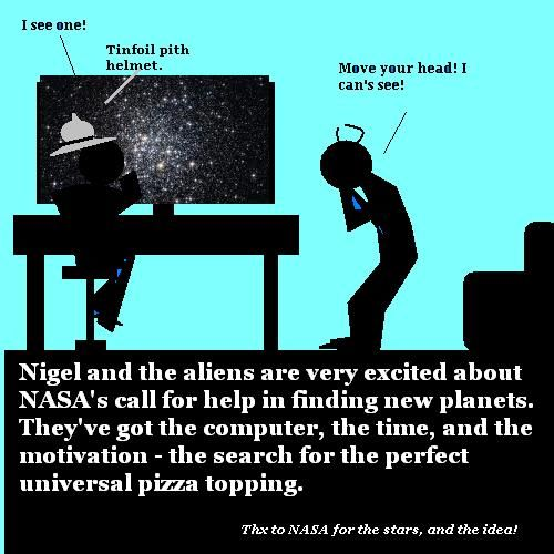 Nigel and the aliens want to help NASA.