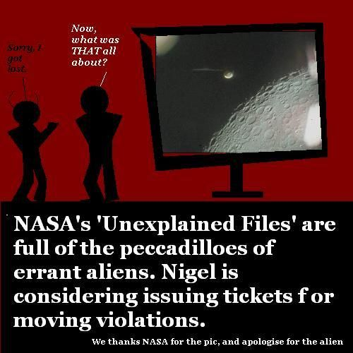 Bad alien driving: a NASA headache.