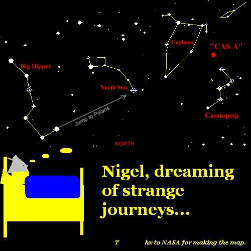 Nigel dreams a star journey.