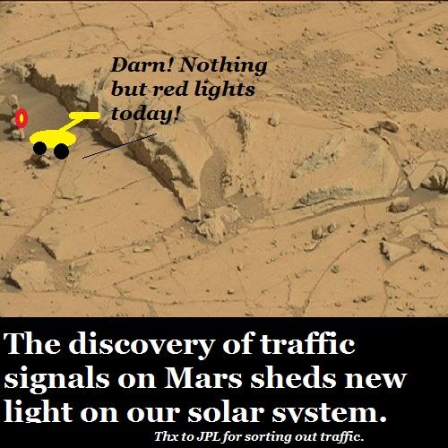 A Martian traffic jam.