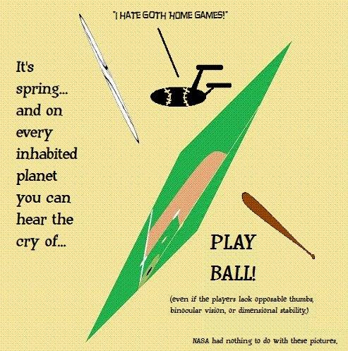 Baseball season opens all over the civilised universe...
