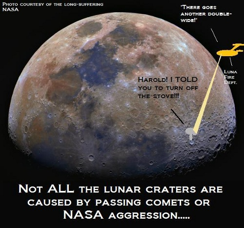The real cause of lunar craters.