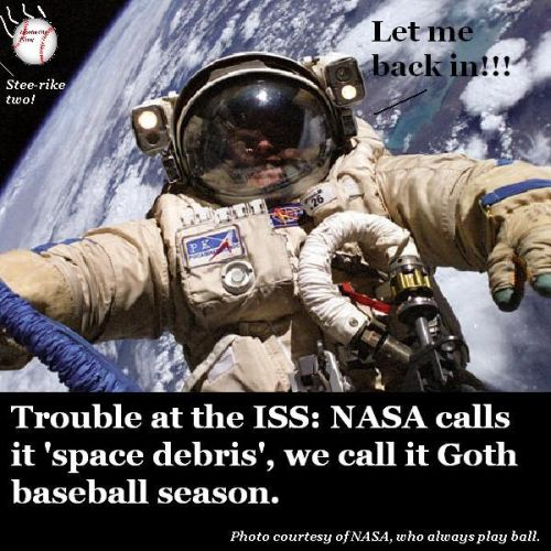 An astronaut outside the ISS.