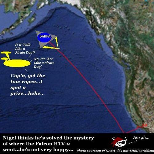 Nigel spots the missing plane.