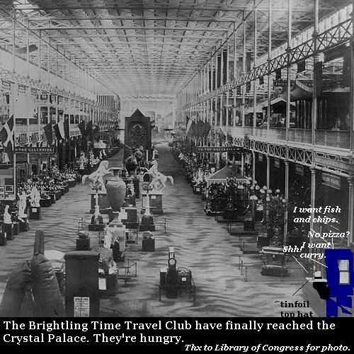 The Brightling Time Travel Club visits the Crystal Palace.