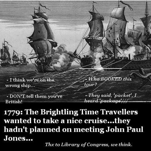 John Paul Jones fights the British. Nigel doesn't want to be there.