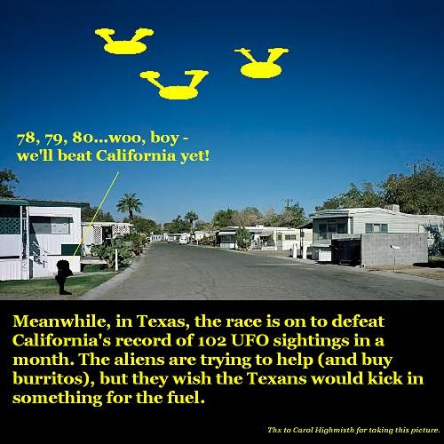 A race to count UFOs.