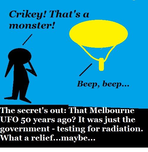 That Aussie UFO WAS a weather balloon.