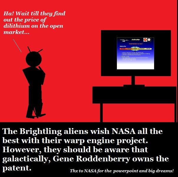 Alien speculates about NASA's warp drive program.