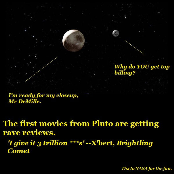 NASA's Pluto movies are a big hit in Brightling.