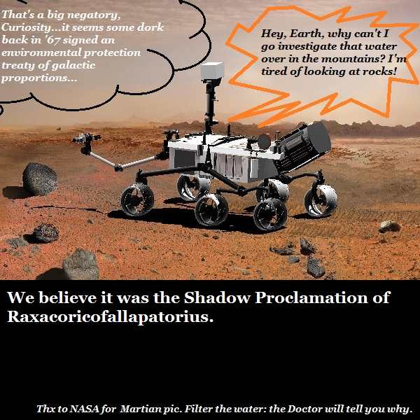 Why the rovers can't go find water on Mars.