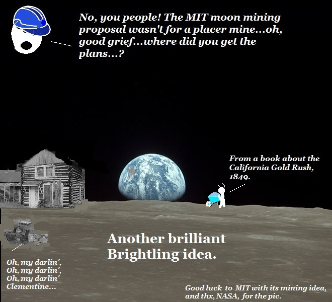 Plans for mining on the moon have, as usual, been misinterpreted by the Brightling aliens.