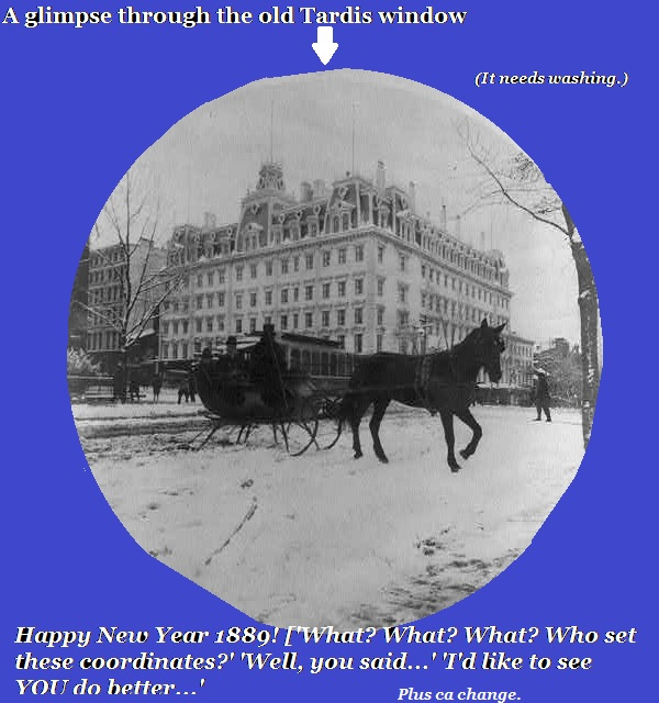 Another miscalculation sends our heroes dashing through the snow in 1889 New York.