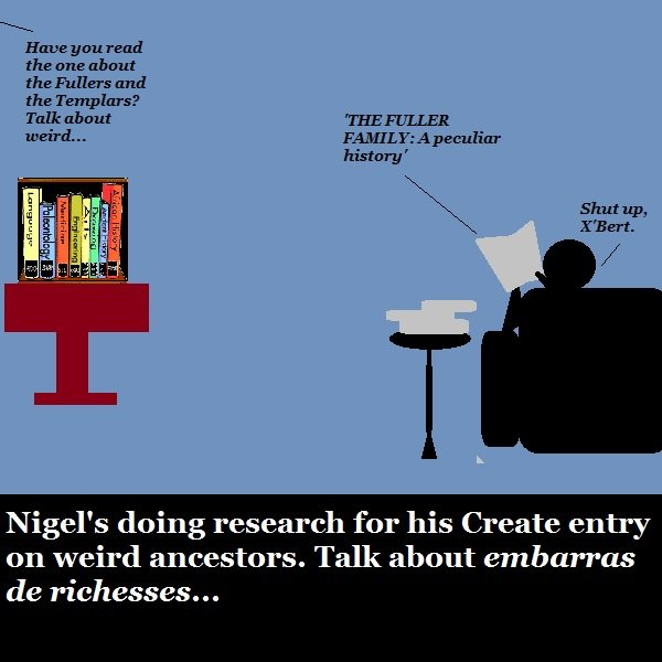 Nigel is researching his ancestors for h2g2. He's not enjoying it very much. They were pretty weird