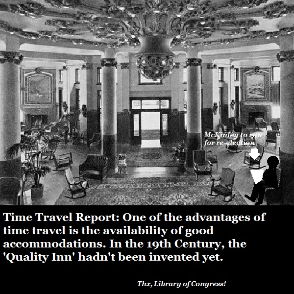 When booking hotels in the past, we recommend Dr Dan Streetmentioner's 'Handy Guide to Time Travel Accommodations'.