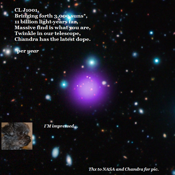 To the tune of 'Twinkle, Twinkle', a song about Chandra's new discovery.