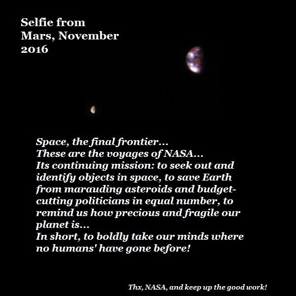An Earth-Moon selfie from Mars.