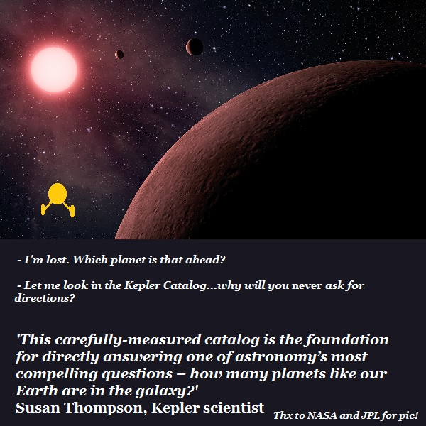 Galactic travellers consult the Kepler Catalog as a roadmap.