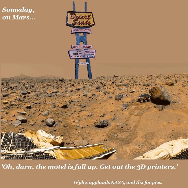 The Desert Sands Motel on Mars.