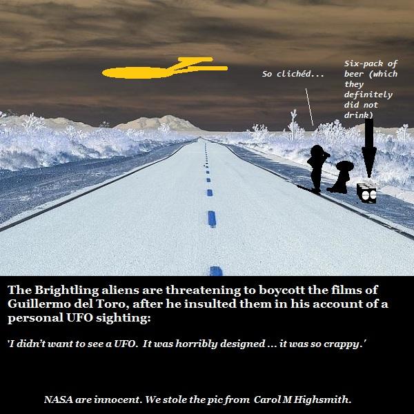 Filmmaker Guillermo del Toro claims he saw a 'cliched' UFO.