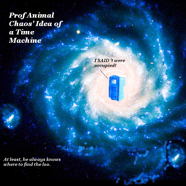 Prof Animal Chaos' vision of a Yorkshire time machine.