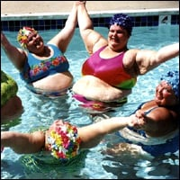 Women in a pool.