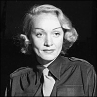Marlene Dietrich in 1944, when she entertained American troops in the Second World War.