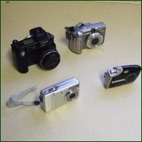 Some digital cameras, pic taken by h2g2 Photographer Aurora.