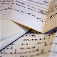 Hand-written documents.