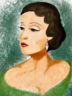 A painting of Dorothy Lamour