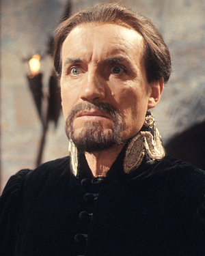 Anthony Ainley as The Master in the 1983 Dr Who story The King's Demon