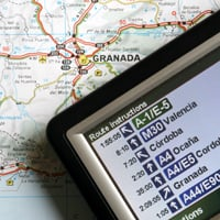 A map and GPS system.