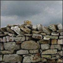 A drystone wall.