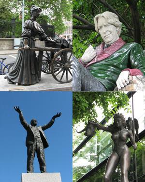 Some Dublin statues.