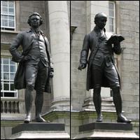 Dublin Statue: Burke and Goldsmith