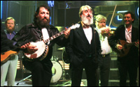 A group of men with instruments and beards - it must be The Dubliners.