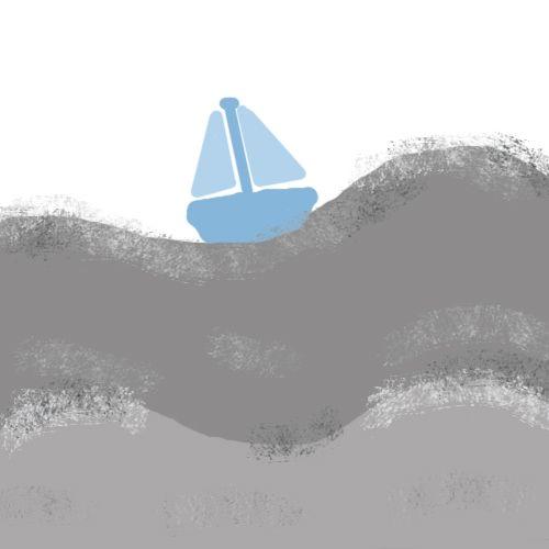 A little blue boat.