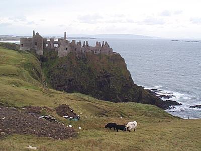 Dunluce Castle, Antrim, Northern Ireland.