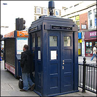 The police box at Earl's Court Tube station.