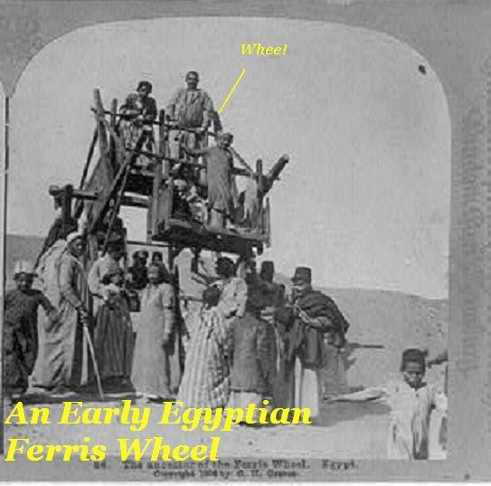 Early Egyptian Ferris wheel.