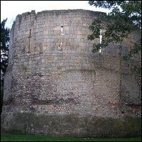 Part of the remains of Eboracum, an old Roman town in York.
