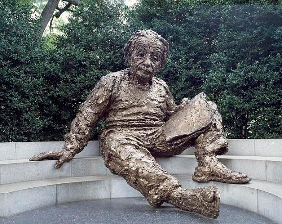 Statue of Albert Einstein in Washington, DC.