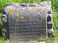 The gravestone of Elaine Rivis Anderson - Photo supplied by Superbrit.