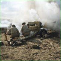 A reconstruction of the Battle of El Alamein.