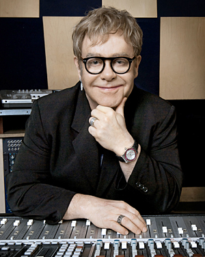 Sir Elton John, pictured for BBC Radio 2's Electric Proms 2010