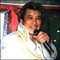 Paul Elvis Chan, an Elvis Presley impersonator from London.